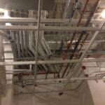 White Unistrut Ceiling Grid